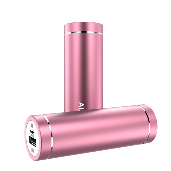 Power Bank Aukey 5000 mAh, rosa
